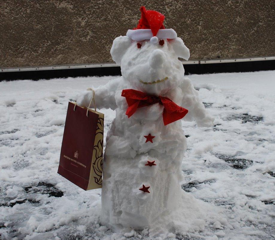 Schneemann im Luisenhof