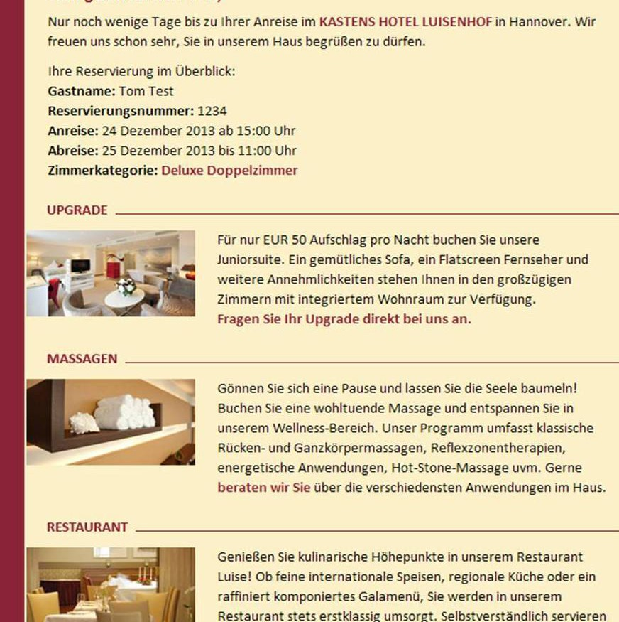Hotel Kirkwood Marketing Mail: E-Mail Für Dich!
