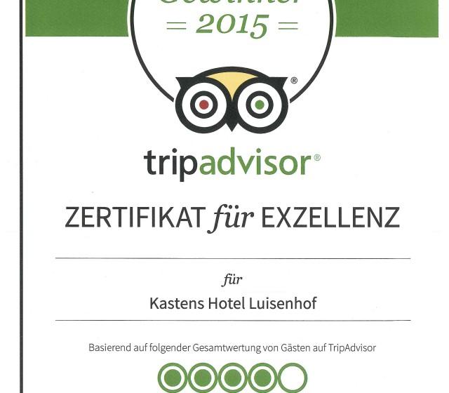 Certificate tripadvisor