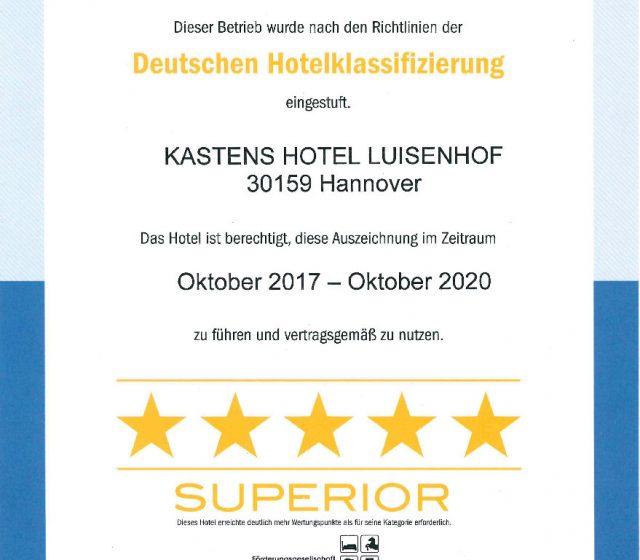 Auszeichnung 5-Sterne Superior