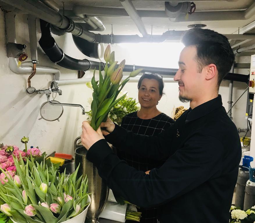 Harte Arbeit für den zufriedenen Gast