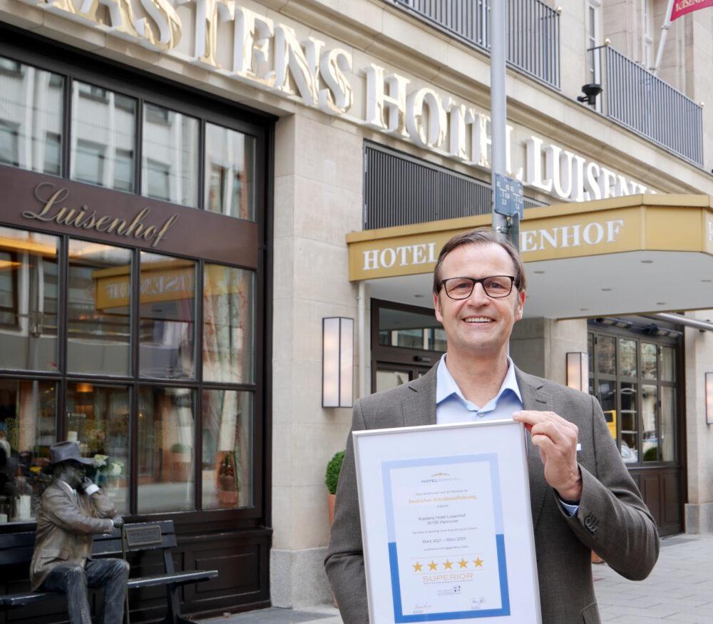 Kastens Hotel Luisenhof erlangt Folgezertifizierung als Fünf-Sterne-Superior Hotel